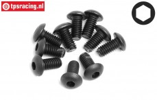 HPI94553 Button Head Screw M4-L8 mm, 10 pcs