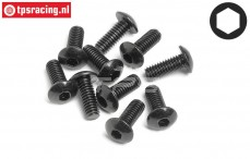 HPI94554 Button Head Screw M4-L10 mm, 10 pcs