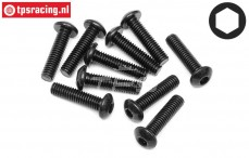HPI94556 Button Head Screw M4-L16 mm, 10 pcs