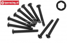 HPI94564 Button Head screw M4-L35 mm, 10 St.