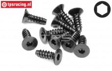 HPI94630 Countersunk Self tapping screw Ø4-L12 mm, 10 pcs.