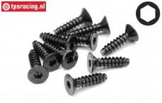 HPI94631 Countersunk Self tapping screw Ø4-L15 mm, 10 pcs.