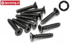 HPI94633 Countersunk Self tapping screw Ø4-L20 mm, 10 pcs.