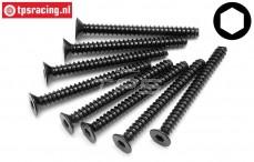 HPI94641 Countersunk Self tapping screw Ø4-L40 mm, 8 St.