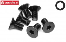 HPI94727 Countersunk Head Screw M5-L10 mm, 6 pcs