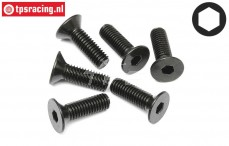 HPI94730 Countersunk Head Screw M5-L16 mm, 6 pcs