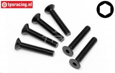 HPI94735 Countersunk Head Screw M5-L30 mm, 6 pcs