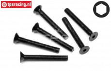HPI94737 Countersunk Head Screw M5-L40 mm, 6 pcs