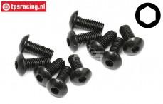 TPS94754 Button Head Screw M5-L12 mm, 10 pcs