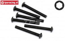 HPI94762 Button Head screw M5-L40 mm, 5 pcs.