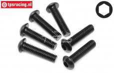 HPI94909 Button Head screw M6-L25 mm, 6 pcs