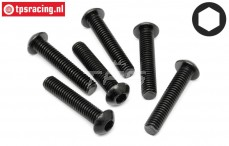 HPI94910 Button Head screw M6-L30 mm, 6 pcs