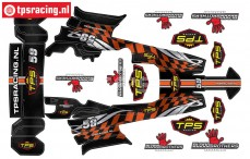 TPSBAJA-O Decals HPI-Rovan Baja Orange, Set
