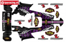 TPSBAJA-P Decals HPI-Rovan Baja Purple, Set
