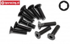 HPIZ084 Countersunk Head Screw M3-L12 mm, 10 pcs