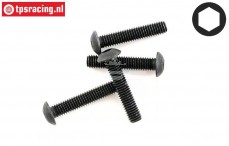 HPIZ216 Button-Head screw M3-L10 mm, 4 pcs