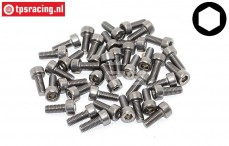 TPSZ340/08 SS Hex Socket-Head, (M3-L8 mm), 40 pcs.