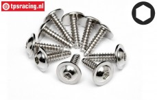 HPIZ489 Self tapping-flanged screw Ø2,6-L10 mm, 10 pcs.