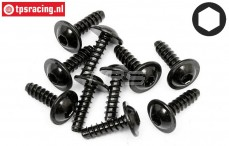 HPIZ562 Self tapping-flanged screw Ø2,6-L10 mm, 10 pcs.