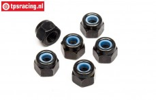 HPIZ663 Steel Lock nut M3, 6 pcs.
