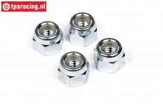 HPIZ664 Steel Lock nut M4, 4 pcs.