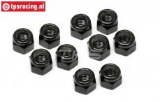TPSZ665 Steel Lock nut M5, 10 pcs.