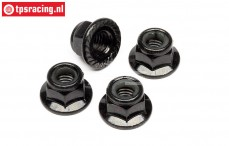 HPIZ682 Steel Lock nut flanged M5, 4 pcs.