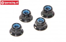 HPIZ684 Steel Lock nut flanged M4, 4 pcs.
