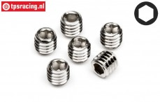 HPIZ700 Scrub screw M3-L3 mm, 6 pcs