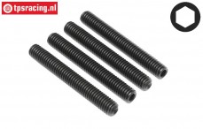 HPIZ747 Scrub screw M6-L45 mm, 4 pcs.
