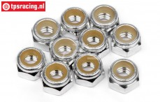 HPIZ868 Alloy Lock-Nut M4 Silver, 10 pcs