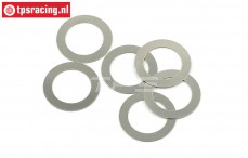 HPIZ897 Shim Ring Ø12-Ø8-H0,2 mm, 6 pcs