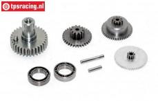 Gears complete, JX-BLSHV7125MG servo, Set