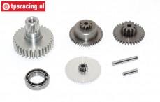 Gears complete, JX-PDI-HV7232MG servo, Set
