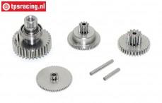 Gears complete, JX-CLS6336HV servo, Set