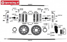 FG10453 Tuning cable brakes rear, Formula 1, Set