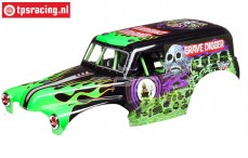 LOS240013 Grave Digger boy painted LMT Truck, Set