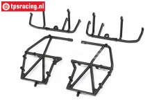 LOS241040 Top and Upper Cage Bars Black LMT Truck, Set