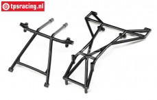 LOS242042 Top and Upper Cage Bars Black LMT Truck, Set