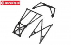LOS241044 Rear Cage and Hoop Bars Black LMT Truck, Set