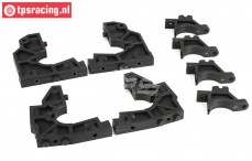 LOS251016 Bulk head front/rear DBXL-MTXL, Set