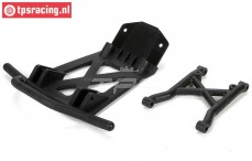 LOS251039 Front bumper with skid plate MTXL, Set