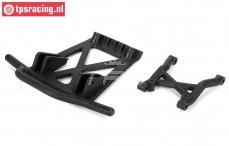 LOS251040 Rear bumper brace/skid plate MTXL, Set