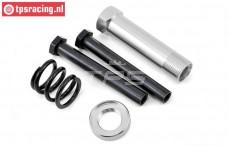 LOS251044 Servo-Saver Axle Silver MTXL-DBXL-E, Set