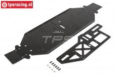 LOS251050 LOSI Chassis & Brace plate 4mm Black DBXL-E, set