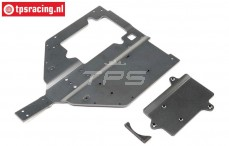 LOS251061 Chassis & Motor Cover SBR, Set