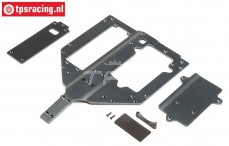 LOS251083 Chassis-Battery-Motor cover Super Rock Rey, set
