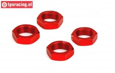 LOS252013 DBXL Wheelnut Red 24 mm, 4 pcs.