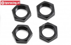 LOS252051 Aluminium Wheelnut black 24 mm MTXL, 4 pcs