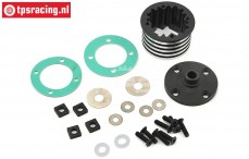 LOS252066 Aluminium Differential housing DBXL-MTXL, set